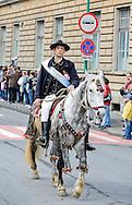 Junii parade in Brasov, Transylvania, Romania, Sunday 22 April 2012