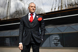© Licensed to London News Pictures. 15/04/2021. London, UK. London Mayoral Candidate Brian Rose stands in front of the Cutty Sark while canvassing in Greenwich, South East London. The London Mayoral Election is expected to take place on the 6th of May after it was postponed last year due to the coronavirus pandemic . Photo credit: George Cracknell Wright/LNP