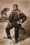 Ernest Shackleton, British polar explorer, postcard circa 1907