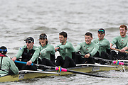 Hammersmith, GREATER LONDON. United Kingdom Cambridge University  Boat  Club, Pre Boat Race Fixture CUBC vs ITA M8+ for the 2017 Boat Race The Championship Course, Putney to Mortlake on the River Thames.<br /> <br /> Saturday  18/03/2017<br /> <br /> [Mandatory Credit; Peter SPURRIER/Intersport Images]<br /> CUBC<br /> <br /> [L-R]  Cox. Hugo Ramambason,  S. Henry Meek, 7. Lance Tredell,6. Patrick Eble,5. Aleksander Malowany, 4. Timothy Tracey, 3. James Letten,