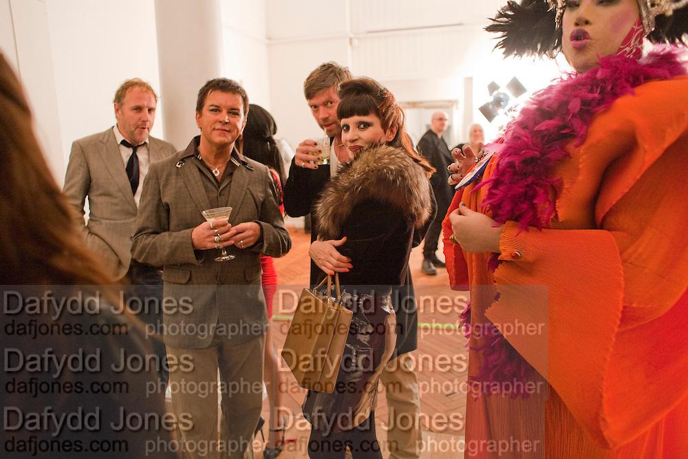 SIMON MILLS; STEVE STRANGE; MISS JULIA; DANIEL LISMORE 30 Years Of i-D - book launch. Q Book 5-8 Lower John Street, London . 4 November 2010. -DO NOT ARCHIVE-© Copyright Photograph by Dafydd Jones. 248 Clapham Rd. London SW9 0PZ. Tel 0207 820 0771. www.dafjones.com.