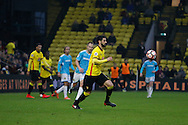 Watford defender Miguel Angel Britos (3) during the The FA Cup 3rd round match between Watford and Burton Albion at Vicarage Road, Watford, England on 7 January 2017. Photo by Richard Holmes.