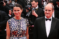 Aurélie Filippetti and Pierre Lescure at the the Grace of Monaco gala screening and opening ceremony red carpet at the 67th Cannes Film Festival France. Wednesday 14th May 2014 in Cannes Film Festival, France.