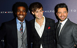 Marques Toliver, Douglas Booth & Dominic Cooper at the opening of the new Tommy Hilfiger store on in London on Thursday 1st December 2011. Photo by: i-Images