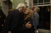 Sir George Martin and Cynthia Lennon, Launch of 'John' by Cynthia Lennon at Six, Fitzroy Sq. London. 27 September 2005. ONE TIME USE ONLY - DO NOT ARCHIVE © Copyright Photograph by Dafydd Jones 66 Stockwell Park Rd. London SW9 0DA Tel 020 7733 0108 www.dafjones.com