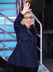 Sally Morgan leaves the house after finishing in fifth place during the live final of Celebrity Big Brother at Elstree Studios, Hertfordshire.