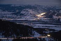 Commuters driving from Jackson, Wyo., to Teton Valley, Idaho, over Teton Pass