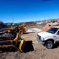030113  Adron Gardner/Independent<br /> <br /> Construction continues at the new site of Pinnacle Bank seen on the corner of Aztec and Puerco in Gallup Friday.