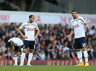 Tottenham's Andros Townsend and Etienne Capoue look on dejected<br /> <br /> - Barclays Premier League - Tottenham Hotspur vs Stoke City- White Hart Lane - London - England - 9th November 2014  - Picture David Klein/Sportimage