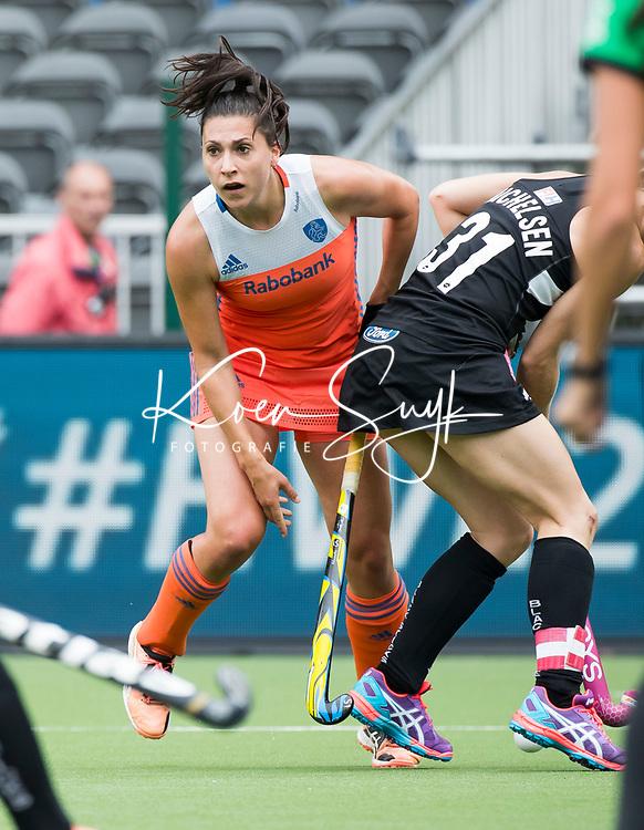 BRUSSEL - Malou Pheninckx (Ned)   tijdens  de halve finale wedstrijd  Nederland-Nieuw Zeeland (1-1) bij de halve finale ronde Hockey World League (dames) . Nederland wint de shoot-outs en plaatst zich voor de finale. COPYRIGHT KOEN SUYK