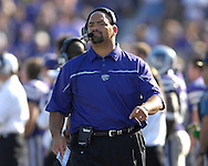 Kansas State head coach Ron Prince during action against Oklahoma State at Bill Snyder Family Stadium in Manhattan, Kansas, October 7, 2006.  The Wildcats beat the Cowboys 31-27.<br />