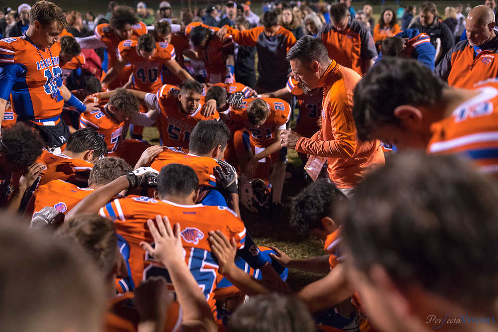 Randleman High School defeated Eastern Randolph 49-0 at Charlles R. Gregory Stadium and won the 2A  - PAC 7 Conference Championship.  <br /> <br /> Photographed, Friday, October 27, 2017, in Greensboro, N.C. JERRY WOLFORD  / Perfecta Visuals