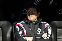 Real Madrid´s goalkeeper Iker Casillas during 2014-15 La Liga match between Real Madrid and Levante UD at Santiago Bernabeu stadium in Madrid, Spain. March 15, 2015. (ALTERPHOTOS/Luis Fernandez)
