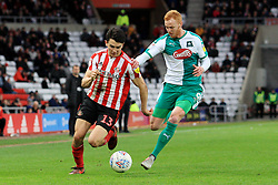 March 2, 2019 - Sunderland, England, United Kingdom - Sunderland's Luke O'Nien contests for the ball with Plymouth Argyle's Ryan Taylor during the Sky Bet League 1 match between Sunderland and Plymouth Argyle at the Stadium Of Light, Sunderland on Saturday 2nd March 2019. (Credit Image: © Mi News/NurPhoto via ZUMA Press)