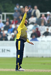 Shahid Afridi of Hampshire appeals for an LBW - Mandatory by-line: Robbie Stephenson/JMP - 19/06/2016 - CRICKET - Cooper Associates County Ground - Taugnton, United Kingdom - Somerset v Hampshire - NatWest T20 Blast