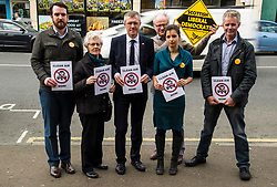 Pictured: Alexander Graham (Tranent, Wallyford and Macmerry ward), Elizabeth Wilson (Dunbar and East Linton ward), Willie Rennie, Claire Graham (Mussleburgh ward), Robert O'Riordan (North Berwick Coastal ward) and Kelvin Pate (Haddington and Lammarmuir ward)<br /> <br /> Scottish Liberal  Party leader Willie Rennie joined with local candidates and supporters in Mussleburgh today as part of a whistle stop tour to launch the Scottish Liberal Democrates manifesto for the upcoming council elections. <br /> <br /> Ger Harley | EEm 28 February 2017
