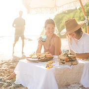 Beach picnic in Kihei, Maui.
