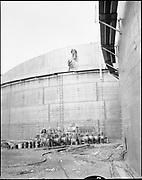 1213-1. New tank construction at Terminal 4. December 1954.