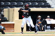 WINSTON-SALEM, NC - JUNE 04: Maryland's Marty Costes. The West Virginia University Mountaineers played the University of Maryland Terrapins on June 4, 2017, at David F. Couch Ballpark in Winston-Salem, NC in NCAA Division I College Baseball Tournament Winston-Salem Regional Game 5. West Virginia won the game 8-5.