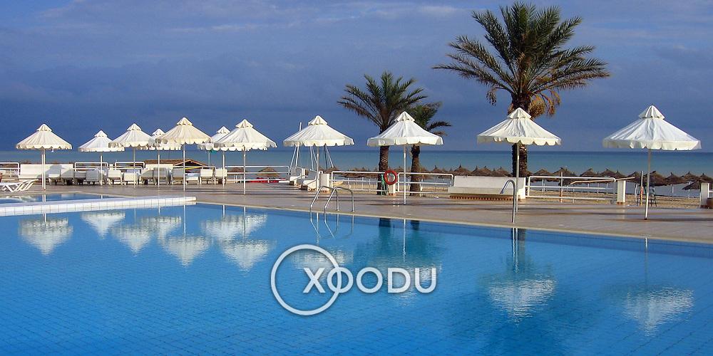Pool by the beach, Hammamet, Tunisia (November 2005)