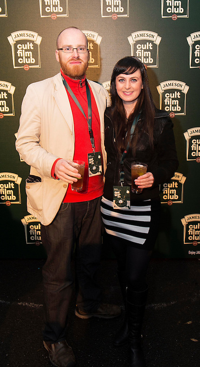 Carlos Tighe and Andrea Tigheat the Jameson Cult Film Club screening of Friday the 13th Part 2 in the Black Box Theatre in Galway.  Photo:Andrew Downes