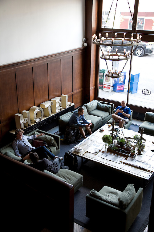 Lobby of the Ace Hotel in Portland Oregon