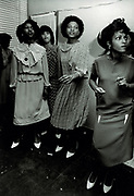Girls with white shoes Dancing at Party. - Photo by Richard Saunders 1983