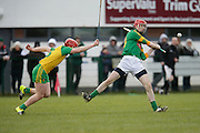 NHL Division 2B at Trim, 6th March 2016<br /> Meath vs Donegal<br /> Stephen Clynch (Meath) and Pauric Doherty (Donegal)<br /> Photo: David Mullen /www.cyberimages.net / 2016