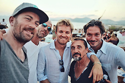 """Nico Rosberg releases a photo on Twitter with the following caption: """"""""team nico world champions reunited 👊🏻 #ibiza"""""""". Photo Credit: Twitter *** No USA Distribution *** For Editorial Use Only *** Not to be Published in Books or Photo Books ***  Please note: Fees charged by the agency are for the agency's services only, and do not, nor are they intended to, convey to the user any ownership of Copyright or License in the material. The agency does not claim any ownership including but not limited to Copyright or License in the attached material. By publishing this material you expressly agree to indemnify and to hold the agency and its directors, shareholders and employees harmless from any loss, claims, damages, demands, expenses (including legal fees), or any causes of action or allegation against the agency arising out of or connected in any way with publication of the material."""