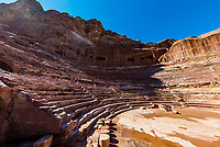 Theatre, Petra Archaeological Park (a UNESCO World Heritage Site), Petra, Jordan.