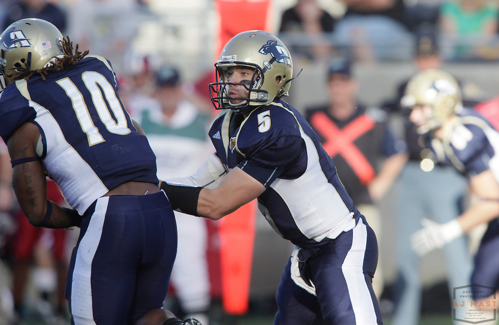 19 September 2009:  Akron quarterback Matt Rodgers (5) as the Indiana Hoosiers played the Akron Zipps in a college football game in Akron, Ohio.