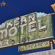 Kern Motel Sign Northbound View - McFarland, CA - Highway 99 - HDR