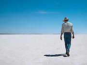 Ranger at Lake Gairdner, Gawler Ranges National Park, South Australia, Australia