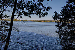11 October 2015:  A view of the Illinois River from the river trail at Starved Rock State Park between Owl Canyon and Lasalle Canyon. Scenics from along the Illinois River Scenic Road and sites along the drive.  All images were between Ottawa and East Peoria.<br /> <br /> This image was produced in part utilizing High Dynamic Range (HDR) processes.  It should not be used editorially without being listed as an illustration or with a disclaimer.  It may or may not be an accurate representation of the scene as originally photographed and the finished image is the creation of the photographer.