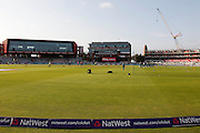 Emirates Old Trafford ready for the during the International T20 match between England and Pakistan at the Emirates, Old Trafford, Manchester, United Kingdom on 7 September 2016. Photo by Craig Galloway.