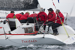Day one of the Silvers Marine Scottish Series 2016, the largest sailing event in Scotland organised by the  Clyde Cruising Club<br /> Racing on Loch Fyne from 27th-30th May 2016<br /> GBR6521, Trastada, Roddy Angus/D Challis, FYC, Half Tonner<br /> <br /> <br /> Credit : Marc Turner / CCC<br /> For further information contact<br /> Iain Hurrel<br /> Mobile : 07766 116451<br /> Email : info@marine.blast.com<br /> <br /> For a full list of Silvers Marine Scottish Series sponsors visit http://www.clyde.org/scottish-series/sponsors/