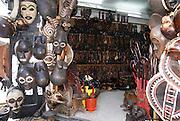 Tanzania, Zanzibar, Zanzibar City on Unguja island a souvenir shop in stone town