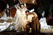 Gaston De Cardenas/El Nuevo Herald -- Antonio Nagore as Calafand Anna  Shafajinskaia as the Ice Princess Turandot in the Florida Grand Opera of Puccini's Turandot