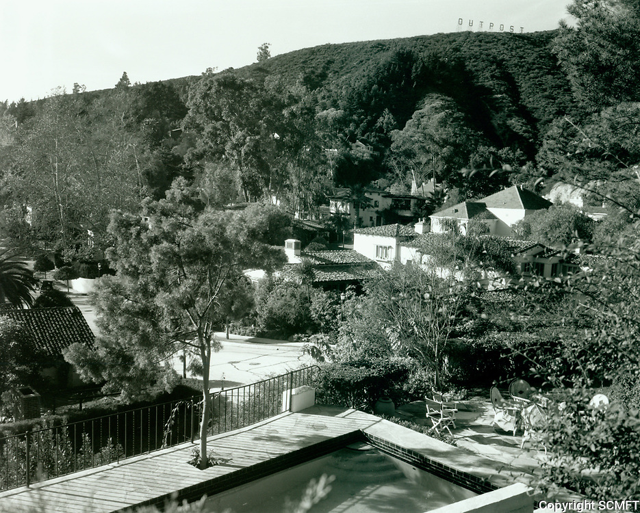 1930 Looking NW at Outpost Estates from Outpost Circle & Hillside Dr. Outpost sign is on the hilltop , at the right