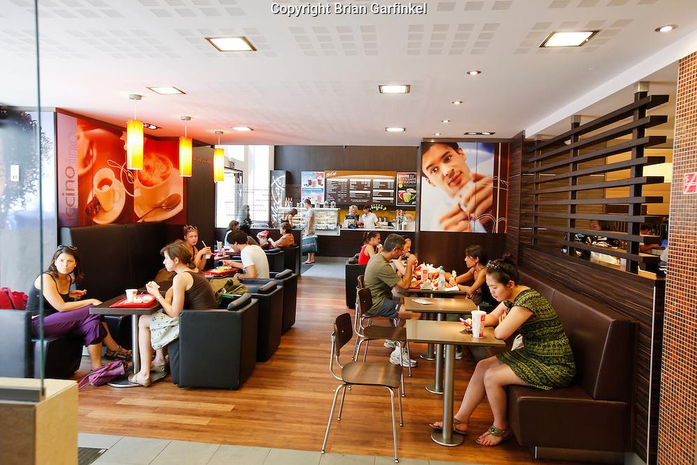 McDonalds in Vienna, Austria on Thursday June 30th 2011. (Photo by Brian Garfinkel)