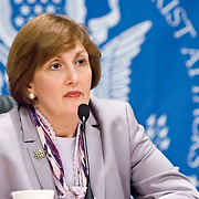 """Jamie Gorelick. Panel: Military Response on 9/11. The 9/11 Commission's 12th public hearing on """"The 9/11 Plot"""" and """"National Crisis Management"""" was held June 16-17, 2004, in Washington, DC."""