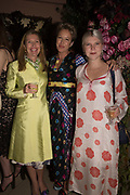 SOPHIE CONRAN; NIKKI TIBBLES; COCO CONRAN,  spotted at Bloom & Wild's exclusive event at 5 Hertford Street last night. 5 September 2017. The event was announcing the new partnership between the UK's most loved florist, Bloom & Wild and British floral design icon Nikki Tibbles Wild at Heart. Cocooned in swaths of vibrant Autumn blooms, guests enjoyed floral-inspired cocktails from Sipsmith and bubbles from Chandon, with canapés put on by 5 Hertford Street. Three limited edition bouquets from the partnership can be bought through Bloom & Wild's website from the 1st September.  bloomandwild.com/WAH