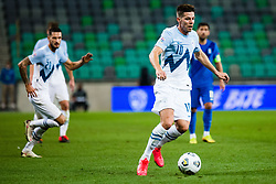 Miha Zajc of Slovenia during football match between National Teams of Slovenia and Greece in UEFA Nations League 2020, on September 3, 2020 in SRC Stozice, Ljubljana, Slovenia. Photo by Grega Valancic / Sportida