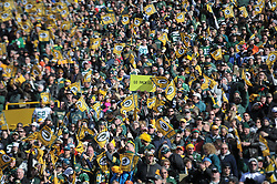 GREEN BAY, WI - NOVEMBER 10:  Green Bay Packers fans cheer against the Philadelphia Eaglesmat Lambeau Field on November 10, 2013 in Green Bay, Wisconsin. (Photo by Drew Hallowell/Philadelphia Eagles/Getty Images) *** Local Caption ***