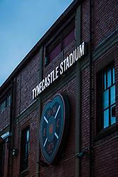 Scottish Premier League club Hearts home ground Tynecastle Stadium, situated in the Gorgie area of Edinburgh, Scotland.