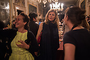 JASMINE PELHAM; SOPHIE LERIS, Sarah Lucas- Scream Daddio party hosted by Sadie Coles HQ and Gladstone Gallery at Palazzo Zeno. Venice. 6 May 2015.