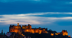 Evening view of Edinburgh Castle, Scotland, UK