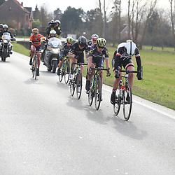 25-02-2017: Wielrennen: Omloop Het Nieuwsblad: Gent  De beslissende kopgroep Ellen van Dijk, Annemiek van VLeuten, Elisa Longo Borhini, Chantal Blaak, Lucinda Brand, Amanda Spratt