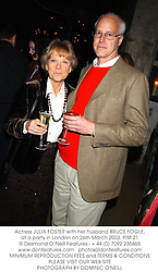 Actress JULIA FOSTER with her husband BRUCE FOGLE, at a party in London on 26th March 2003.PIM 21