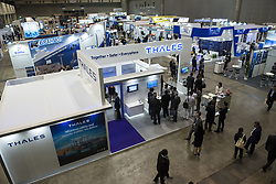 June 12, 2017 - Chiba, Chiba, Japan - MAST Asia 2017 (Maritime Security between Asia-Pacific, Europe, and Americas) defense exhibition and conference in Chiba, Japan. According to its organisers, the biennial high technology defence industry fair, designed for the defence, security, maritime, air and space industries, is generally thought to be the biggest defence industry fair in the Asia. Regular participants at MAST events represent over 40 countries, from North America, South America, Western and Eastern Europe, Asia and Pacific regions. (Credit Image: © Alessandro Di Ciommo via ZUMA Wire)